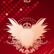 Glittering background and coat of arms — Imagen vectorial