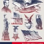 США отечественной эмблемы & символы — Cтоковый вектор