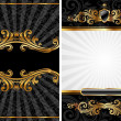 Stock Vector: Gold & black luxury background