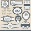 Set of vintage labels & page decor — Stockvector