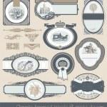 Set of vintage labels & page decor — Vecteur