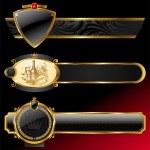Ornate decorative golden frames — Stock Vector