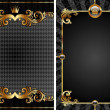 Gold & black luxury decorative background — Imagen vectorial