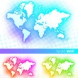 Royalty-Free Stock Imagen vectorial: Vector world map