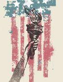 抽象美国爱国矢量图 — 图库矢量图片