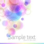 фон с красочными кругах — Cтоковый вектор