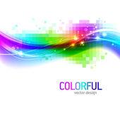 Abstrait avec vague colorée — Vecteur