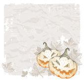 Halloween background with pumpkins — Stock Vector