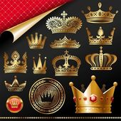 Golden royal design element — Vector de stock