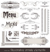 Decorative design elements & page decor — Stock Vector