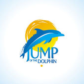 Dolphin jump out of the water — Stock Vector