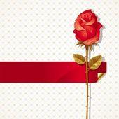 Illustrazione di san valentino con rosa — Vettoriale Stock