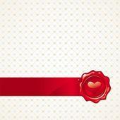 Valentines achtergrond met hart — Stockvector