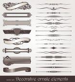 декоративный дизайн элементы & страницы декор — Cтоковый вектор