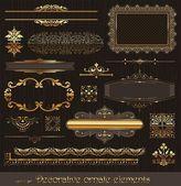 Elementos de diseño de decoración y decoración de página — Vector de stock