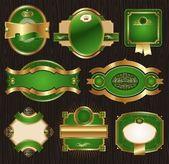 Luxury ornate framed labels — Stock Vector