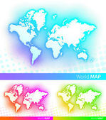 Vector world map — Stock Vector