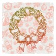 Stock Vector: Hand drawn Christmas wreath