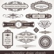 Decorative vector design elements & page decor - Imagens vectoriais em stock