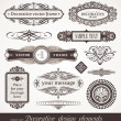 Decorative vector design elements & page decor - Stok Vektör