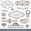 Vector decorative calligraphic design elements & page decor - Stok Vektör