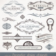 Vector decorative calligraphic design elements & page decor — Stok Vektör