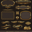 Royalty-Free Stock Immagine Vettoriale: Golden decorative vector design elements & page decor