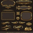 Golden decorative vector design elements &amp; page decor - Stock Vector