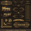 Ornate golden design elements & page decor — Stok Vektör #6294950