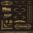 Ornate golden design elements & page decor — Vector de stock #6294950