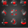 Vector set - abstract glass design elements — Stockvectorbeeld
