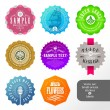 Vector set of small labels and stickers - Stok Vektr