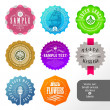 Vector set of small labels and stickers — Stock Vector