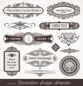 Decorative vector design elements & page decor — Stok Vektör