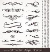 Vector elementos de diseño decorativo y decoración de página — Vector de stock