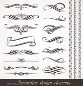 Vector decorative design elements & page decor — Stockvektor
