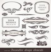Vecteur design décoratif éléments et page decor — Vecteur