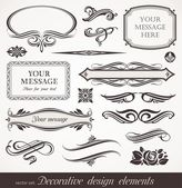 Vector decorative design elements & page decor — Stockvector