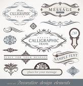 Vektor dekorativní kaligrafické prvky a stránky dekorace — Stock vektor