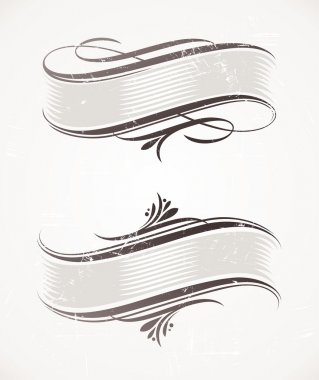 Vintage vector scroll with calligraphic elements