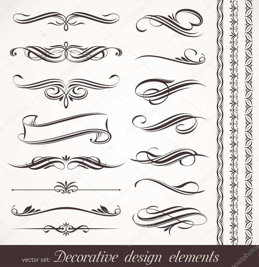 Vector decorative design elements & page decor  Stock Vector #6294704