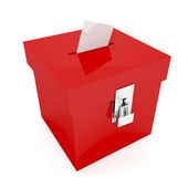 Red ballot box — Stock Photo