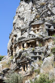 Ancient Lycian tombs in Myra — Stock Photo