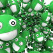 Stock Photo: Green Smilies