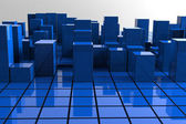 Blue Towers — Stock Photo