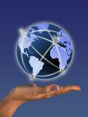 Global iletişim kavramı — Stok fotoğraf