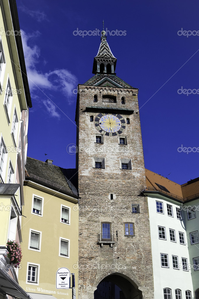 Bell tower Oberammergau   Stock Photo #6435288