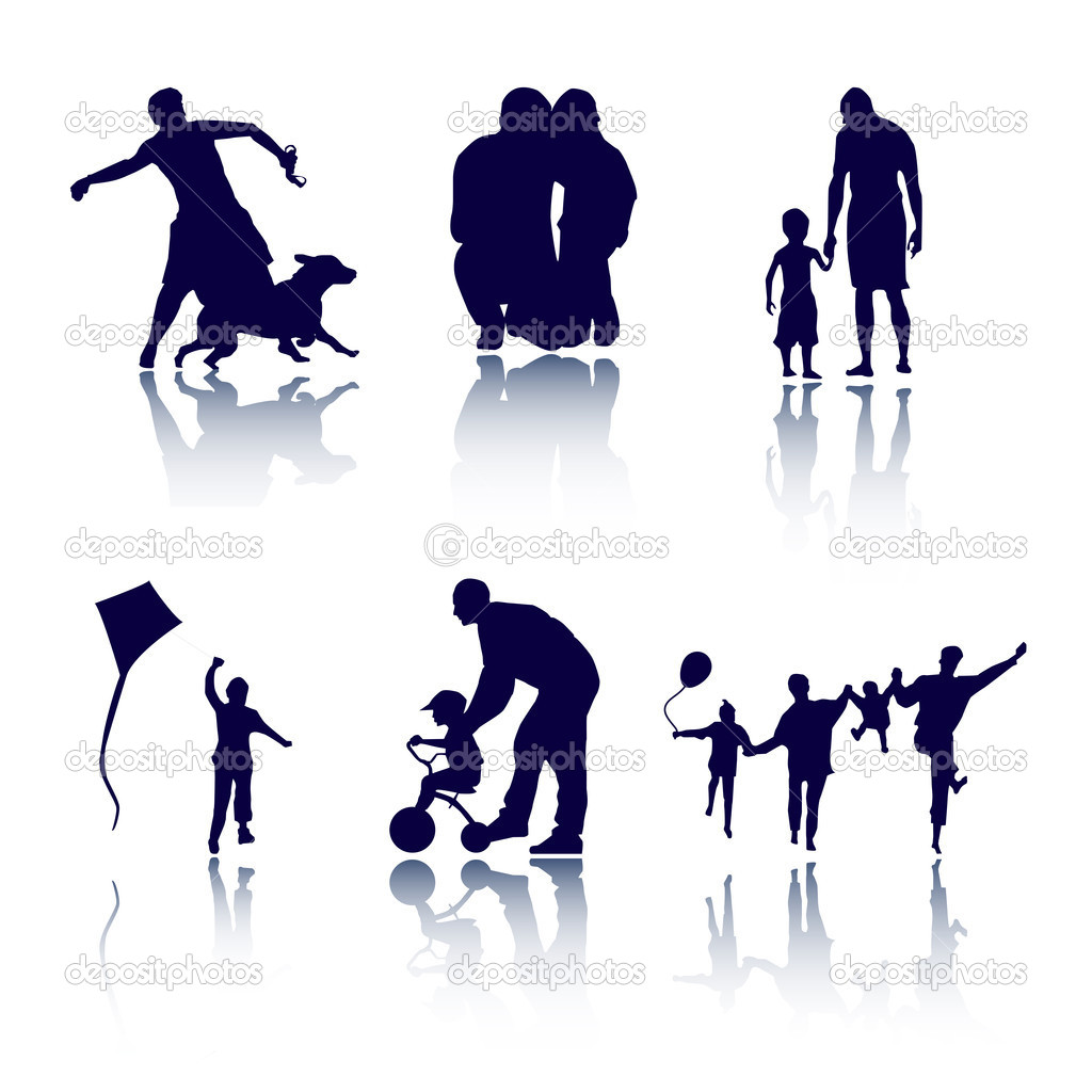 Family playing vector illustration  — Stock Photo #6435938