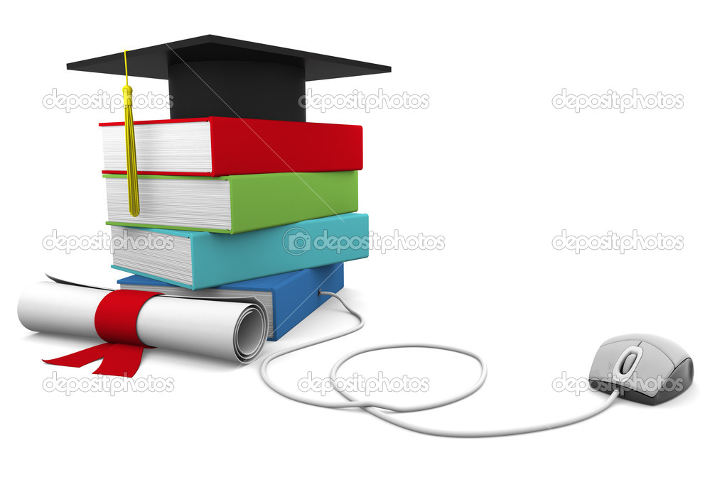 On line Univesity concept. Distance Learning Courses and Degree. — Stock Photo #6436277