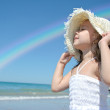 Little girl on the beach — Stock Photo #5907497